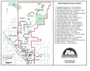 Amphitheater School District Map