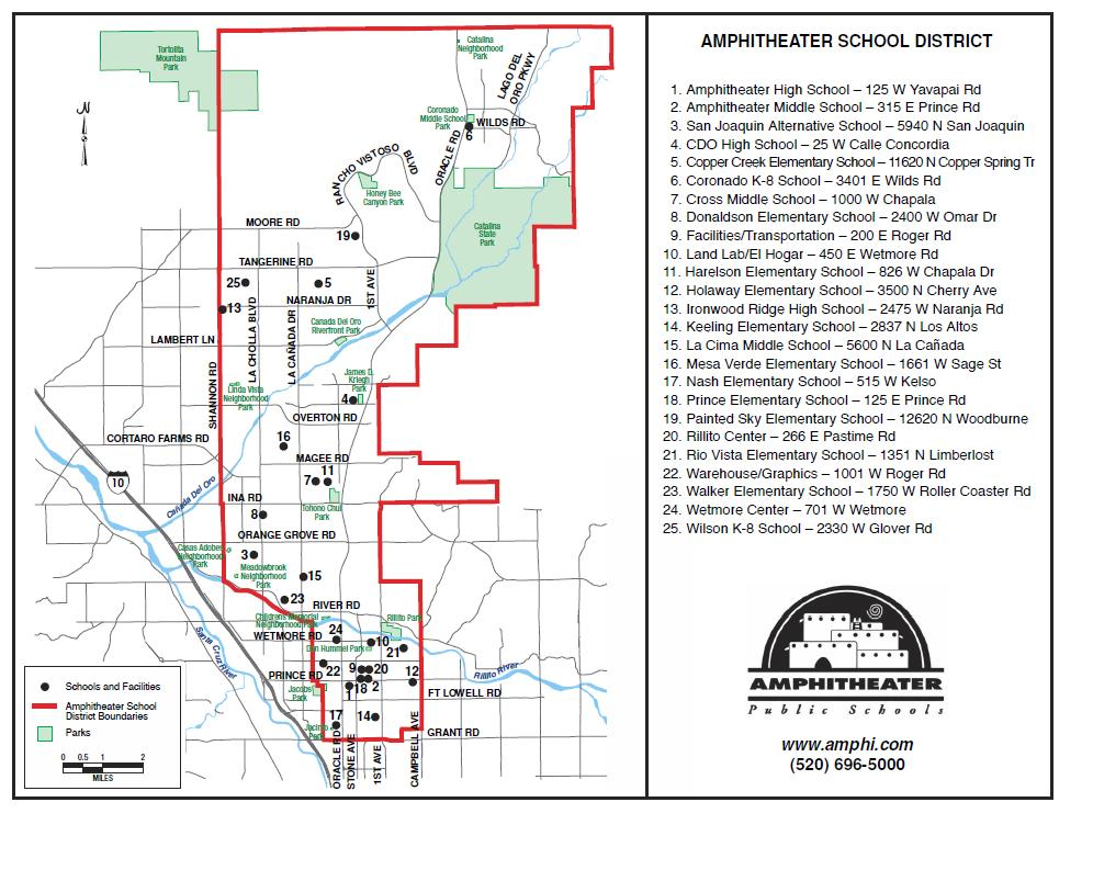 Amphitheater School District 10 Map