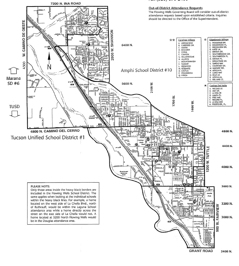 Flowing Wells School District Map