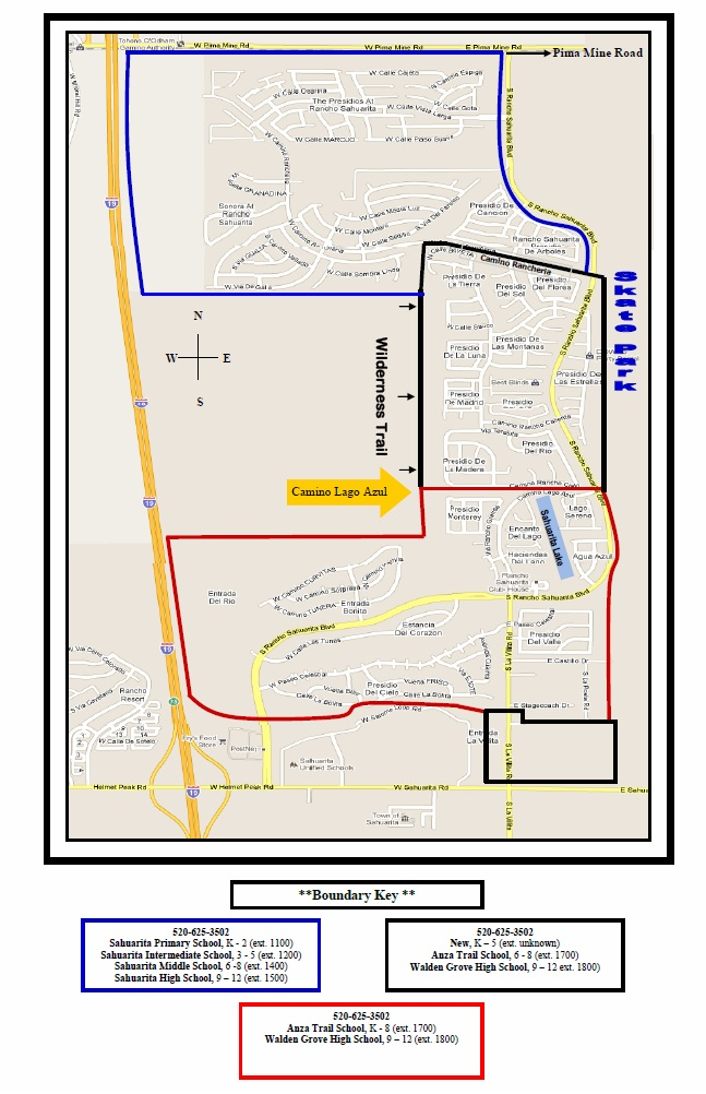 Sahuarita School District Boundary Map