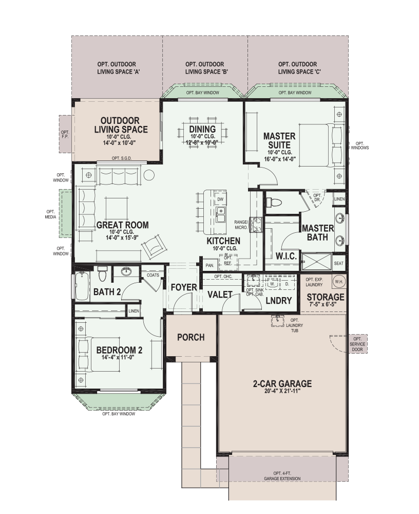 SaddleBrooke Ranch Hermosa Floor Plan