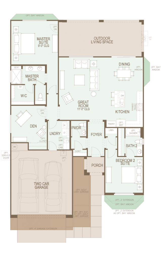SaddleBrooke Ranch Dolce Floor Plan