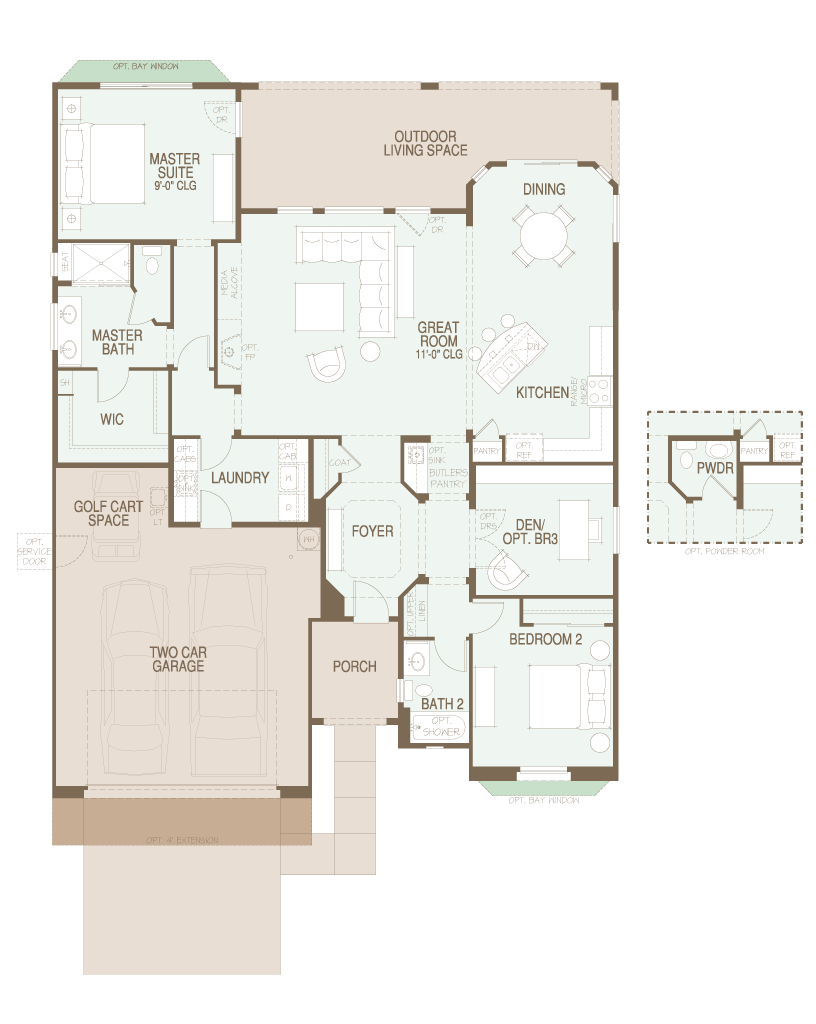 SaddleBrooke Artesa Floor Plan