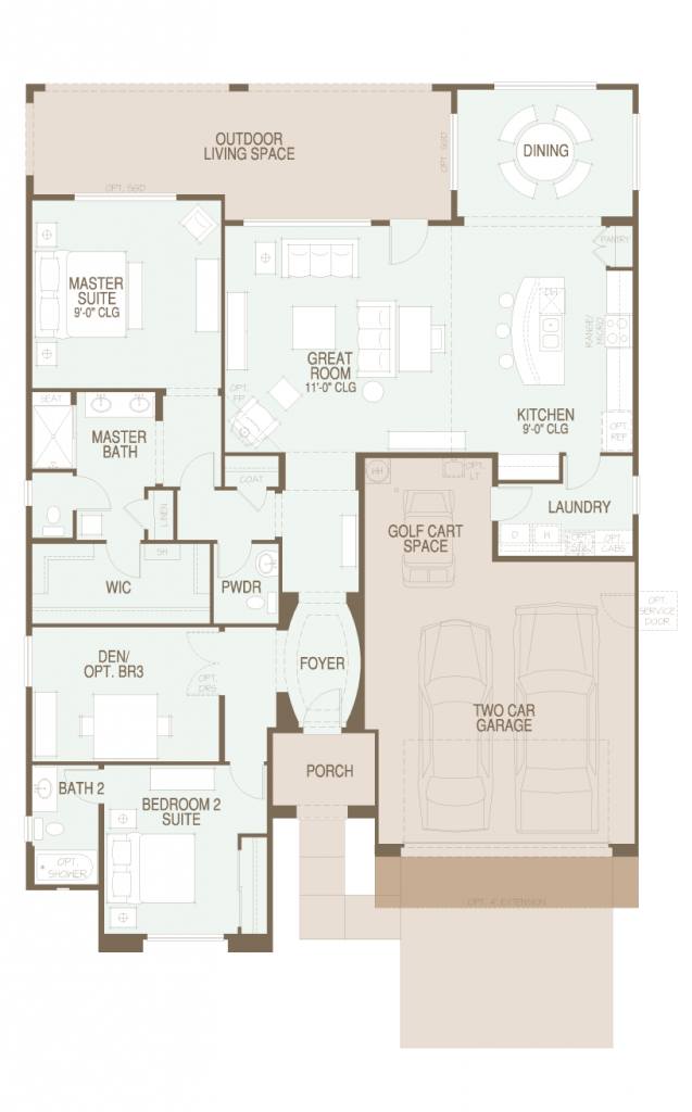 SaddleBrooke Strada Floor Plan