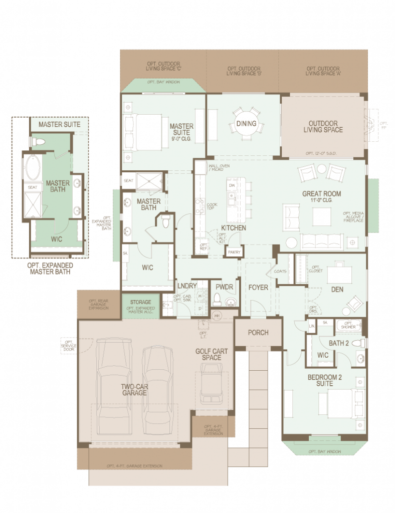 SaddleBrooke Ranch Cortez Floor Plan