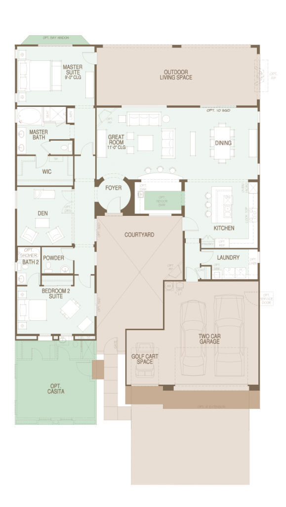 SaddleBrooke Mirasol floor plan