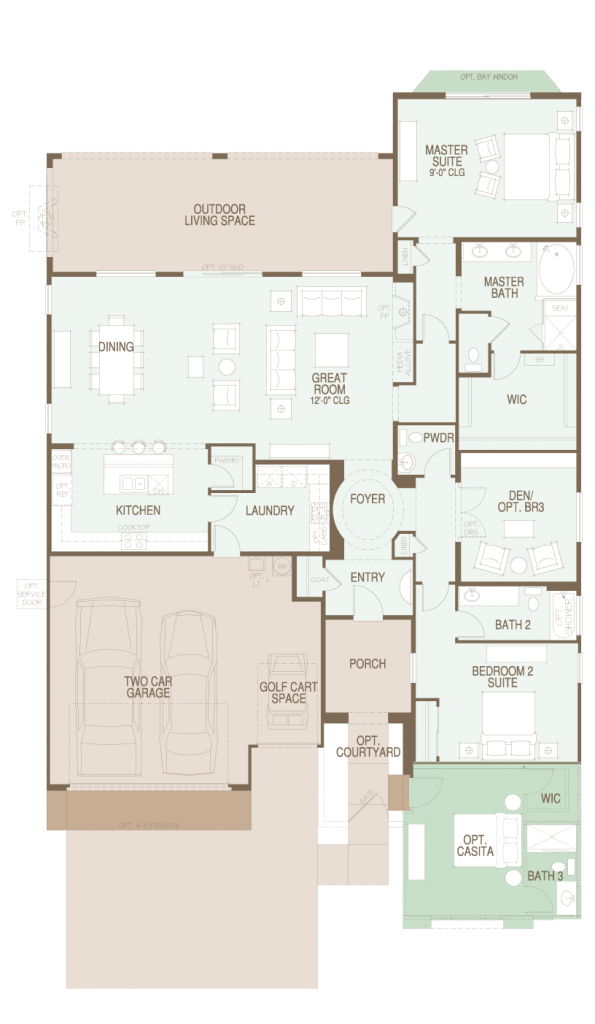 SaddleBrooke Pima Floor Plan