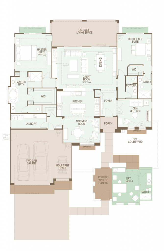 SaddleBrooke Ranch Brisa Floor Plan