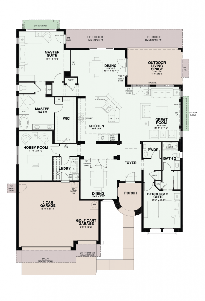 Quail Creek Sonata Floor Plan