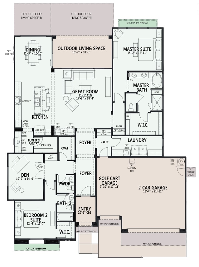 Quail Creek Pavona Floor Plan