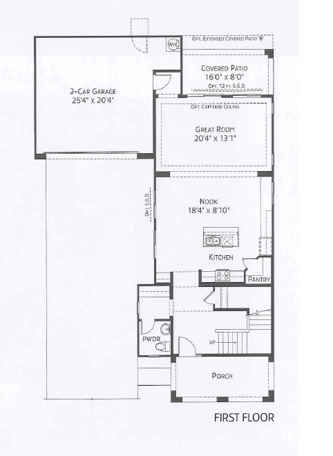 Center Pointe Vistoso Maricopa Floorplan 1st
