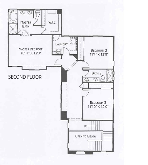 Center Pointe Vistoso Maricopa Floorplan 2ndFlr