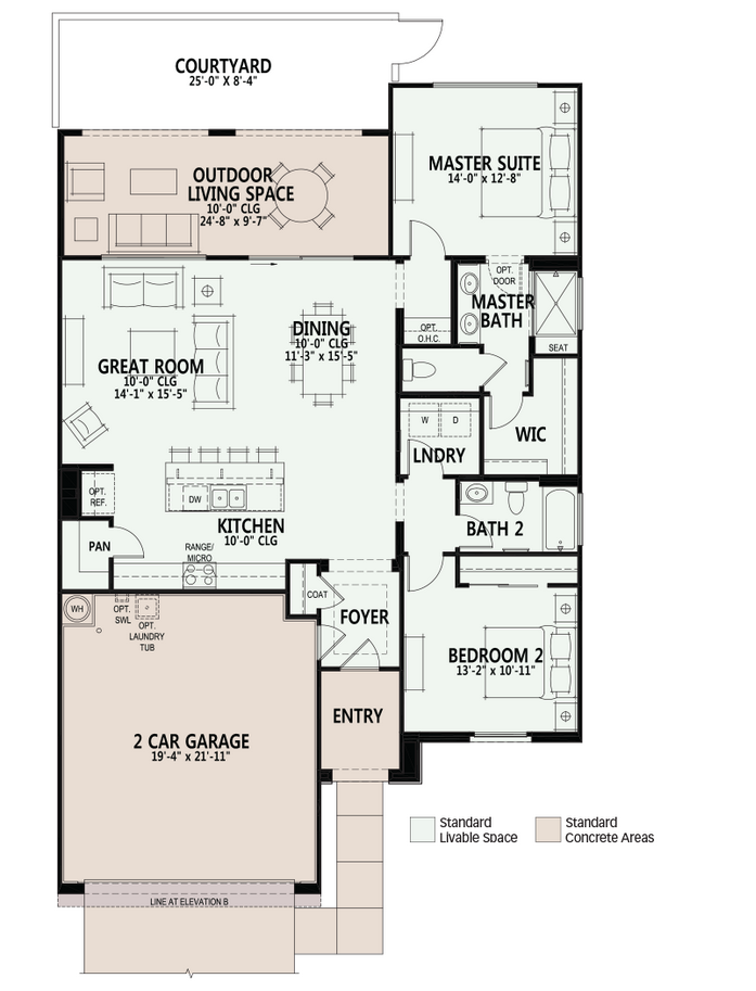 saddlebrooke ranch villas oro floor plan